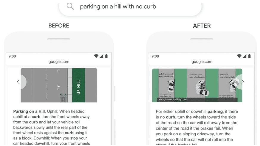 Parking google bert