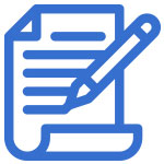 Icon of piece of paper with pencil and lines of text to show guest blog posting