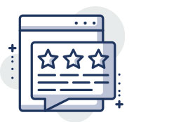 Icon of three star review to illustrate affordable web design