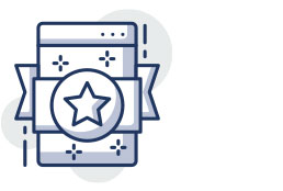 Icon of a web page with a star and sparkles around it